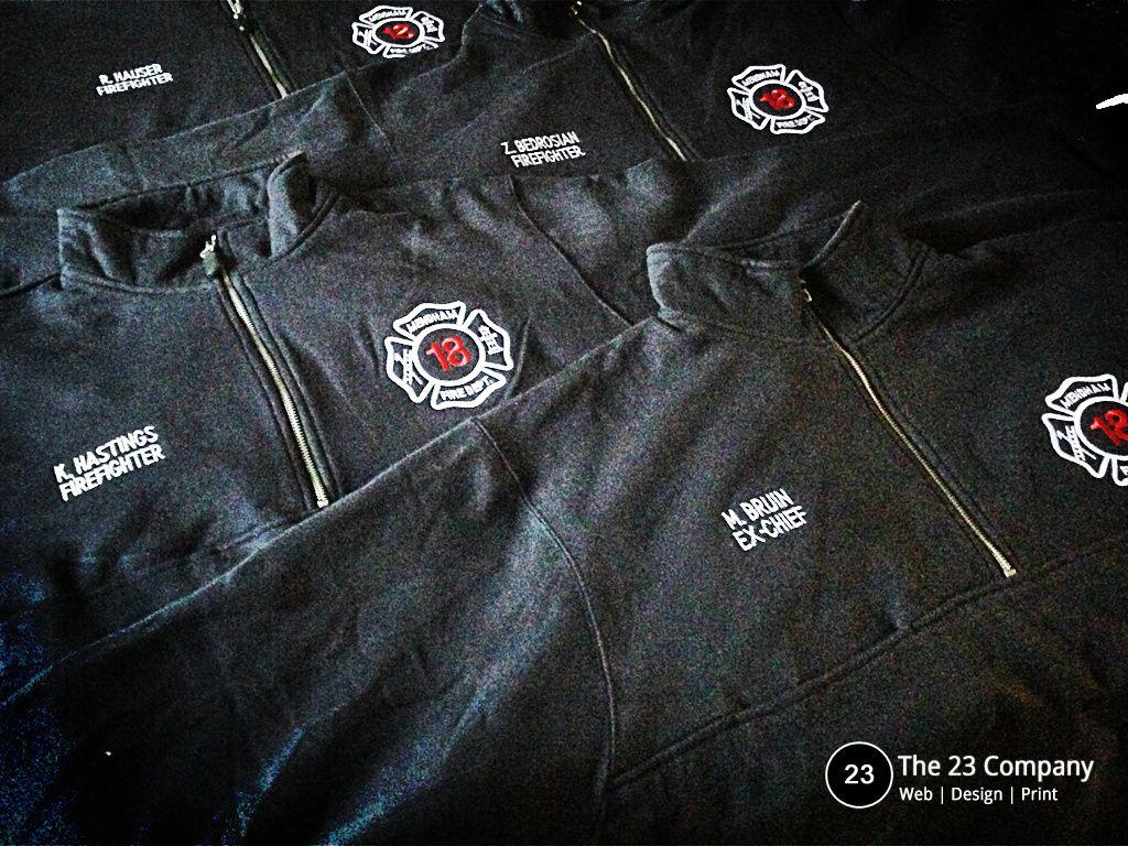 T shirt design job - Customized Apparel Volunteer Fire Department Charles River Job Shirts