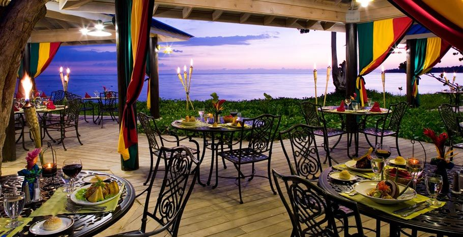 Bluefield restaurant at sandals whitehouse in jamaica