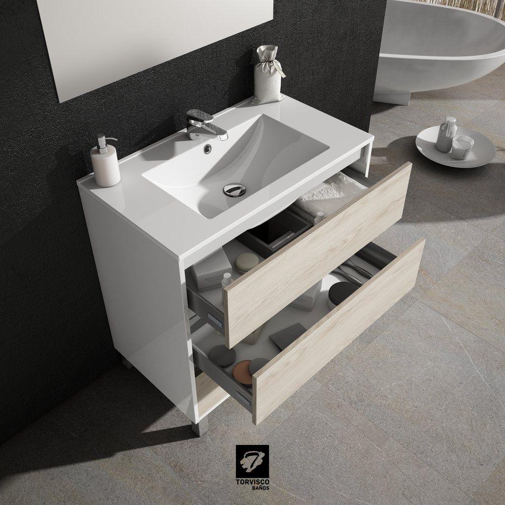 Mueble de baño modelo TAIGA 80 CM FONDO 45CM. Detalle de ...