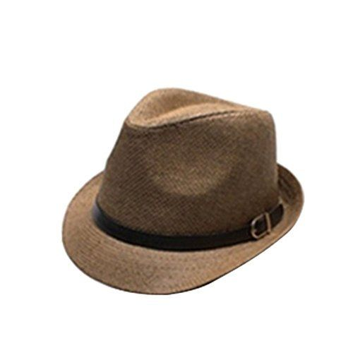 5d9f1fcc9257d Stylish Jazz Hat Summer Straw Sun Hat Cap Topee Fedora Trilby Panama Hat   Ventilated