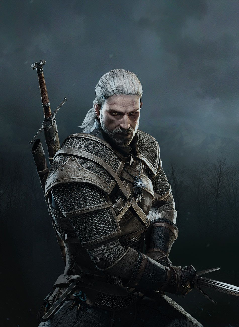 Geralt Offensive Stance Crop Characters Art The Witcher 3 Wild Hunt The Witcher Books The Witcher 3 The Witcher
