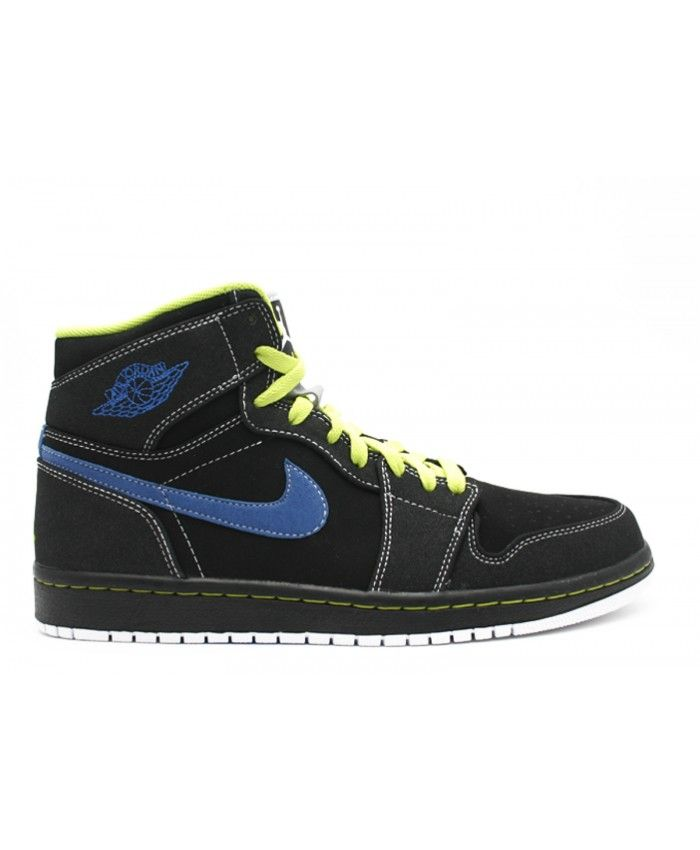 9f955f4b34133d Air Jordan 1 Retro High Black Cyber Black Bl Sapphire 332550 005 Sale Uk