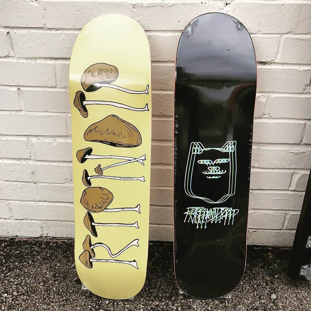 A Couple Of New Graphics From The Ripndip Summer Drop Added To Our Collection Capsnstems In An 8 25 And Fast Forward In An Skate Art Skateboard Skateboards