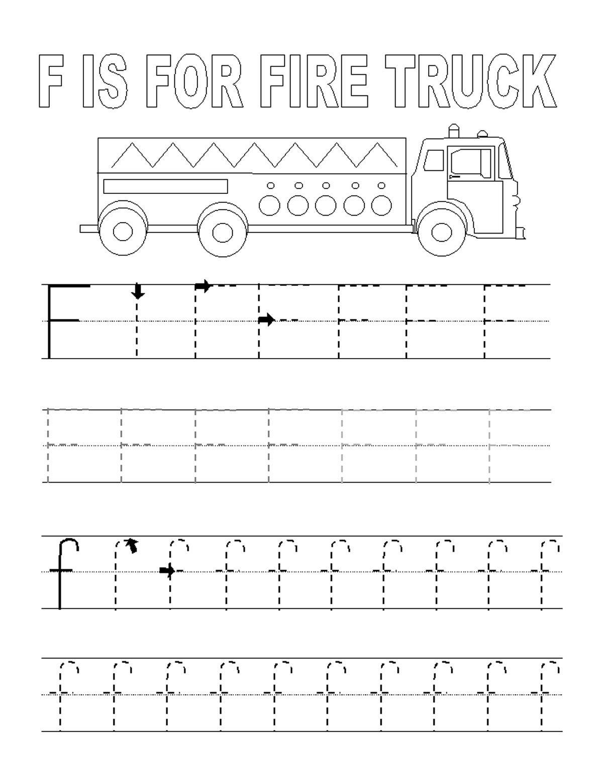 Alphabet Tracer Pages F Fire Trucks Kids Coloring Pages Printable Col Alphabet Tracing Printables Alphabet Tracing Worksheets Printable Alphabet Worksheets