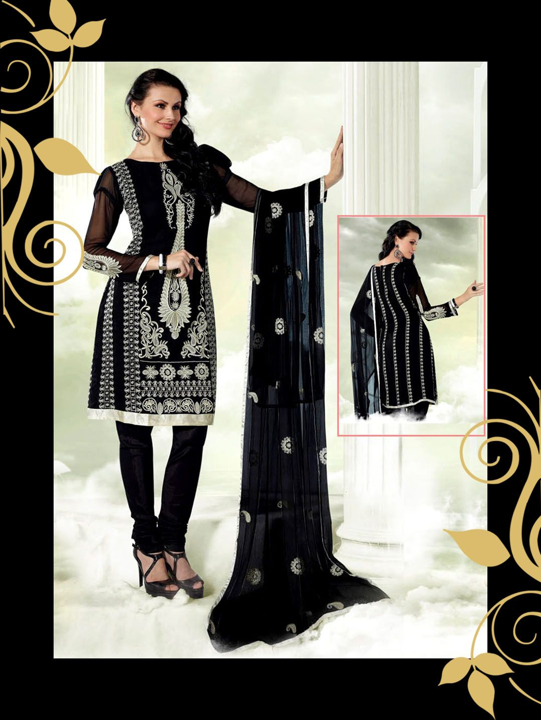 Buy designer georgette dresses at zarifashions froks
