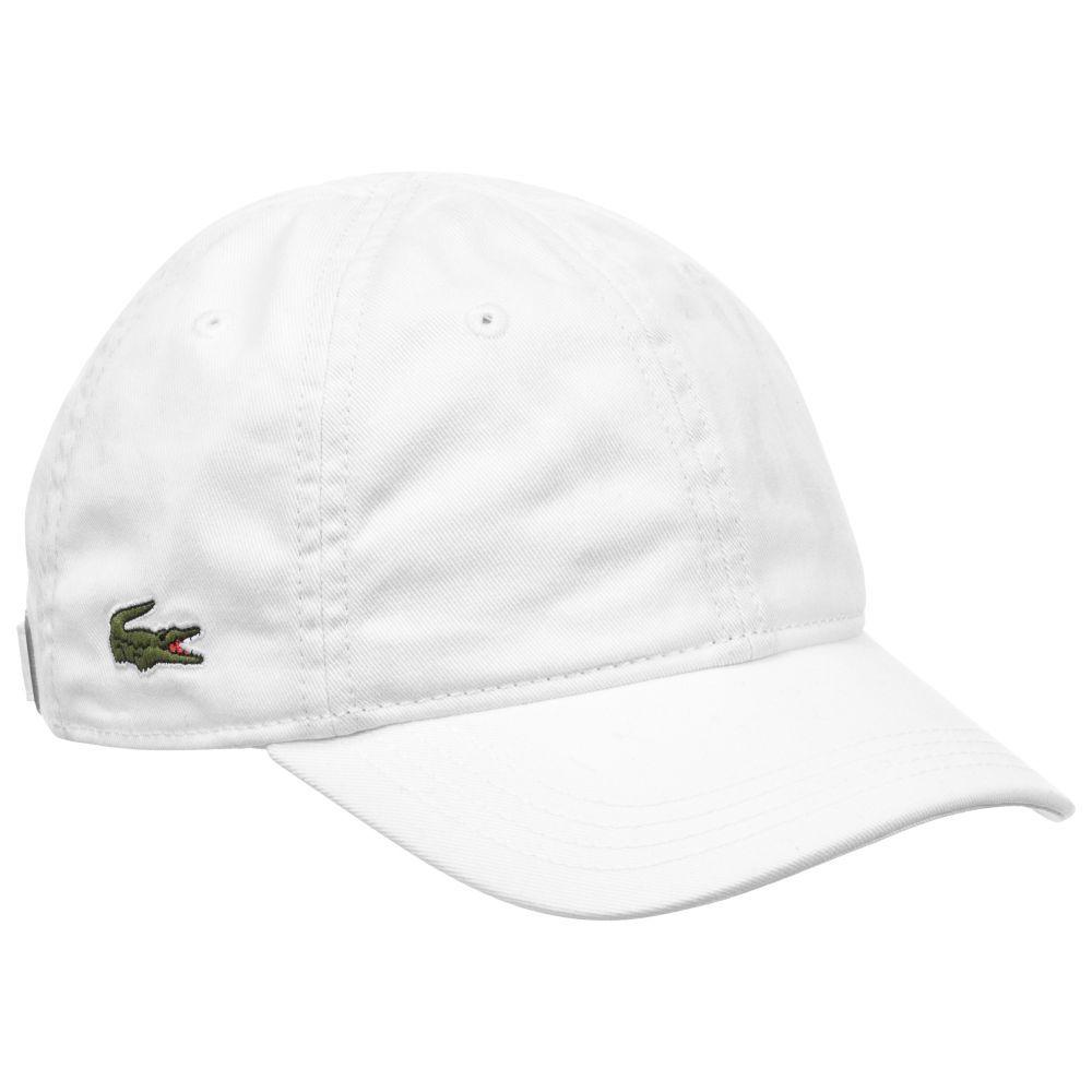 1cfa690b5f3 White cotton gabardine cap by Lacoste