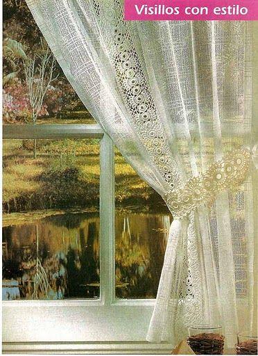 crochet curtain tiebacks