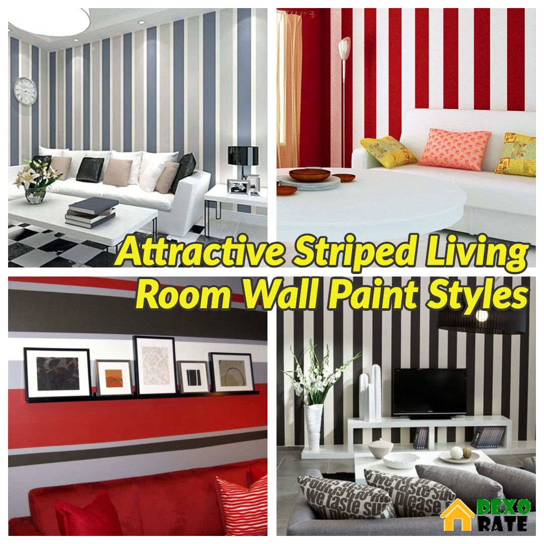 30 Most Attractive Striped Living Room Wall Paint Styles Room