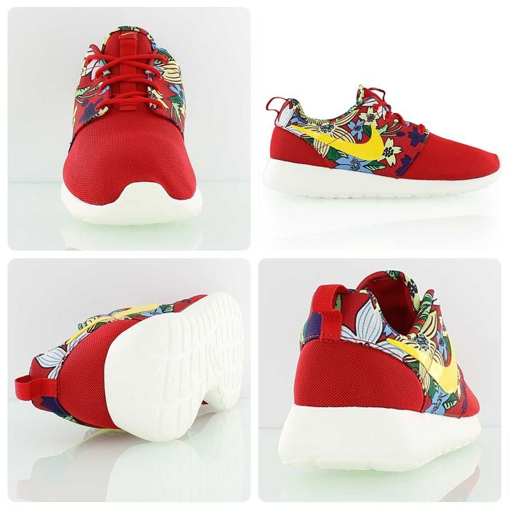 official photos ab62f 5f31a Nike Womens Roshe One Print red yellow floral