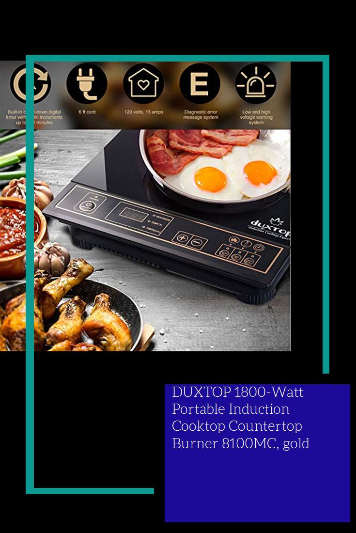 Duxtop 1800 Watt Portable Induction Cooktop Countertop Burner 8100mc Gold Dining Induction Cooktop Cooktop Gold Kitchen
