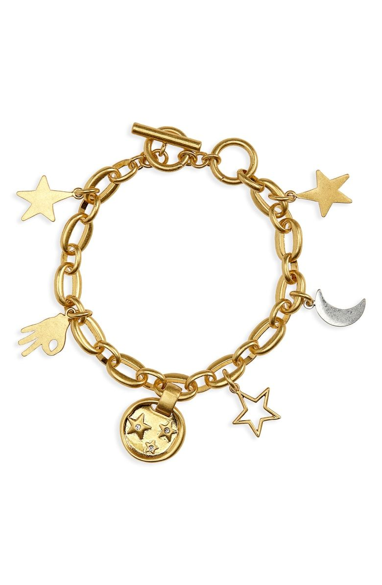 5ca9983a319a2 Free shipping and returns on Madewell Star Sparkle Charm Bracelet at ...