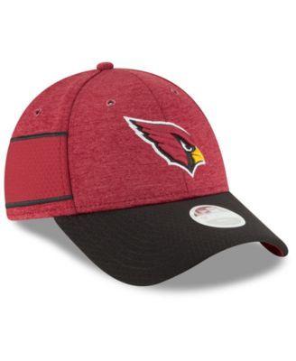 New Era Women s Arizona Cardinals On Field Sideline Home 9FORTY Strapback  Cap - Red Adjustable 51936f471de