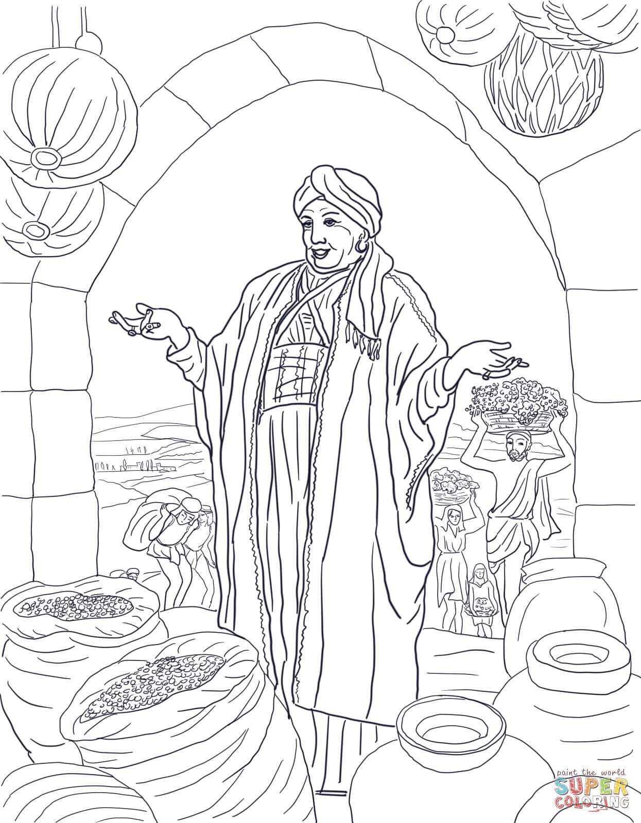 Parable Of The Rich Fool Super Coloring Bible Coloring Pages