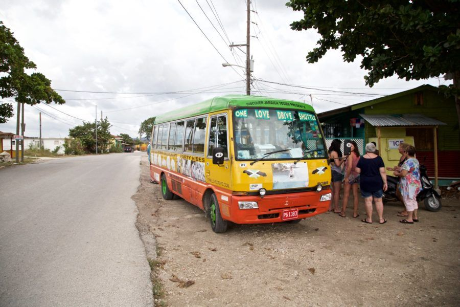 One of many stops aboard the One Love Bus Bar Crawl in Negril, Jamaica. Find out more about this unique bar hopping tour in Negril on our blog