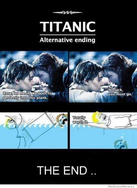 Alternative Ending Titanic Funny Some Funny Jokes Crazy Funny Memes