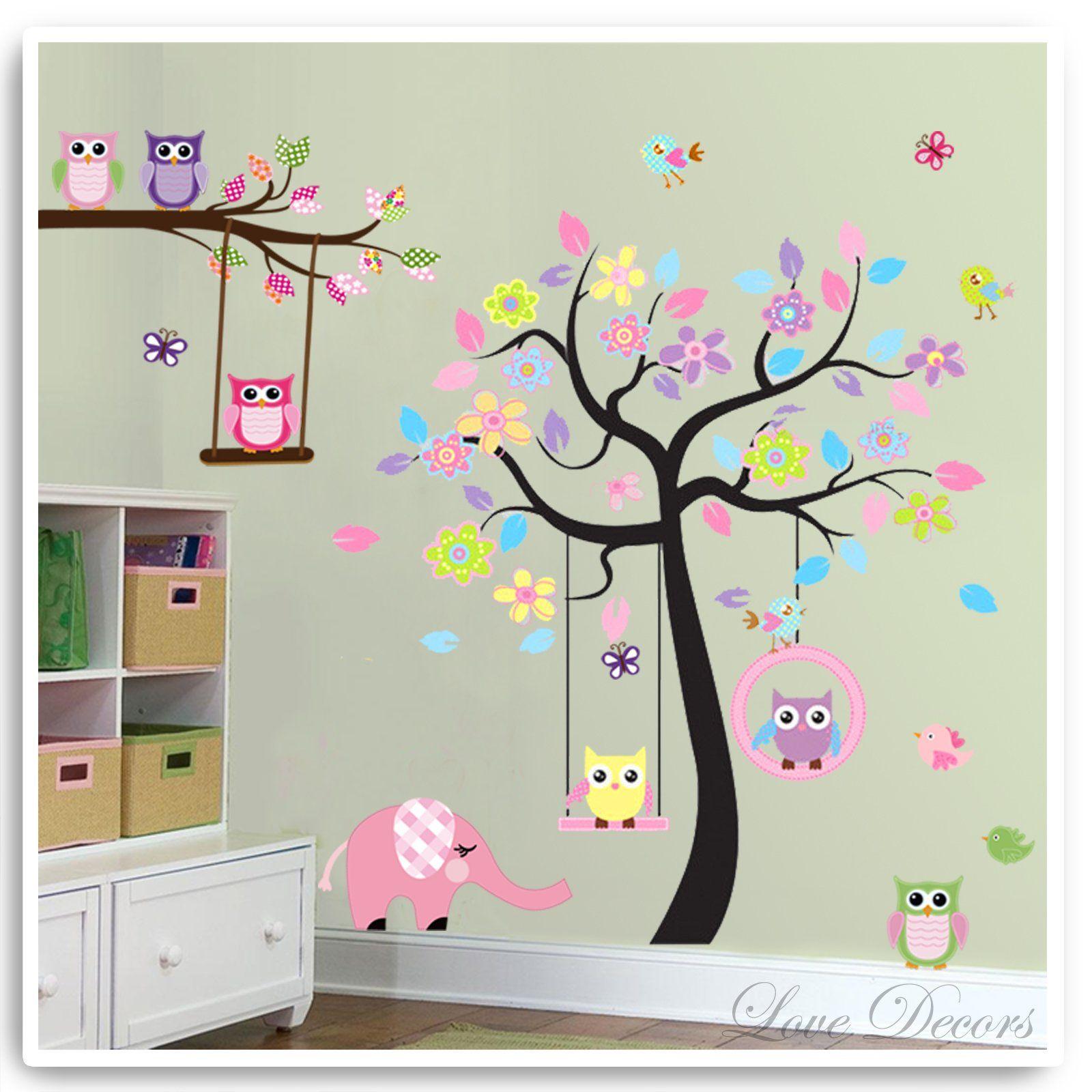 Pegatinas de pared 3D de PVC extra/íbles para decoraci/ón del hogar arte para habitaci/ón de los ni/ños 59 cm x 76 cm dormitorio