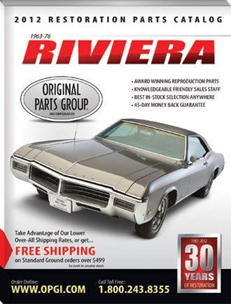 1963 76 Riviera Restoration Parts Catalog Opgi Com Buick Riviera Riviera Parts Catalog