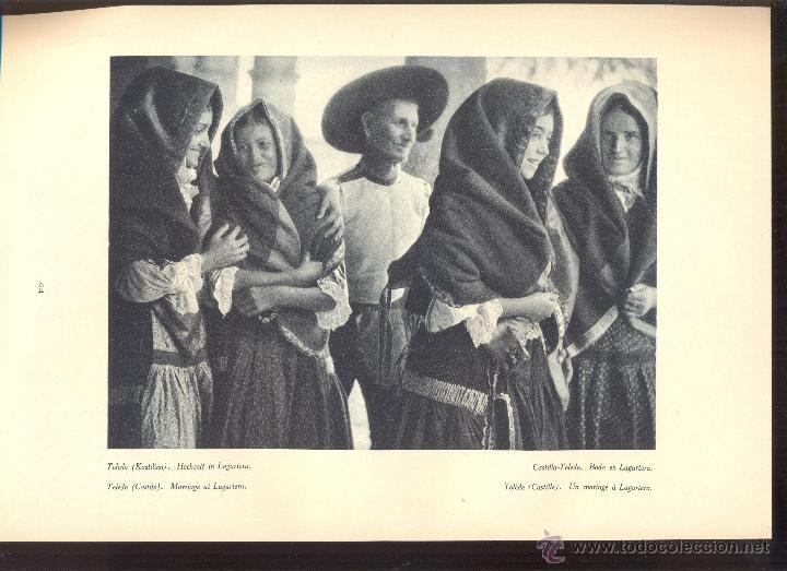 Coleccionismo: LAMINA FOTOGRAFICA FOTO DE LAGARTERA BODA TRAJES TIPICOS TRADICIONALES TRAJE TIPICO AÑO 1933 - Foto 2 - 49016901