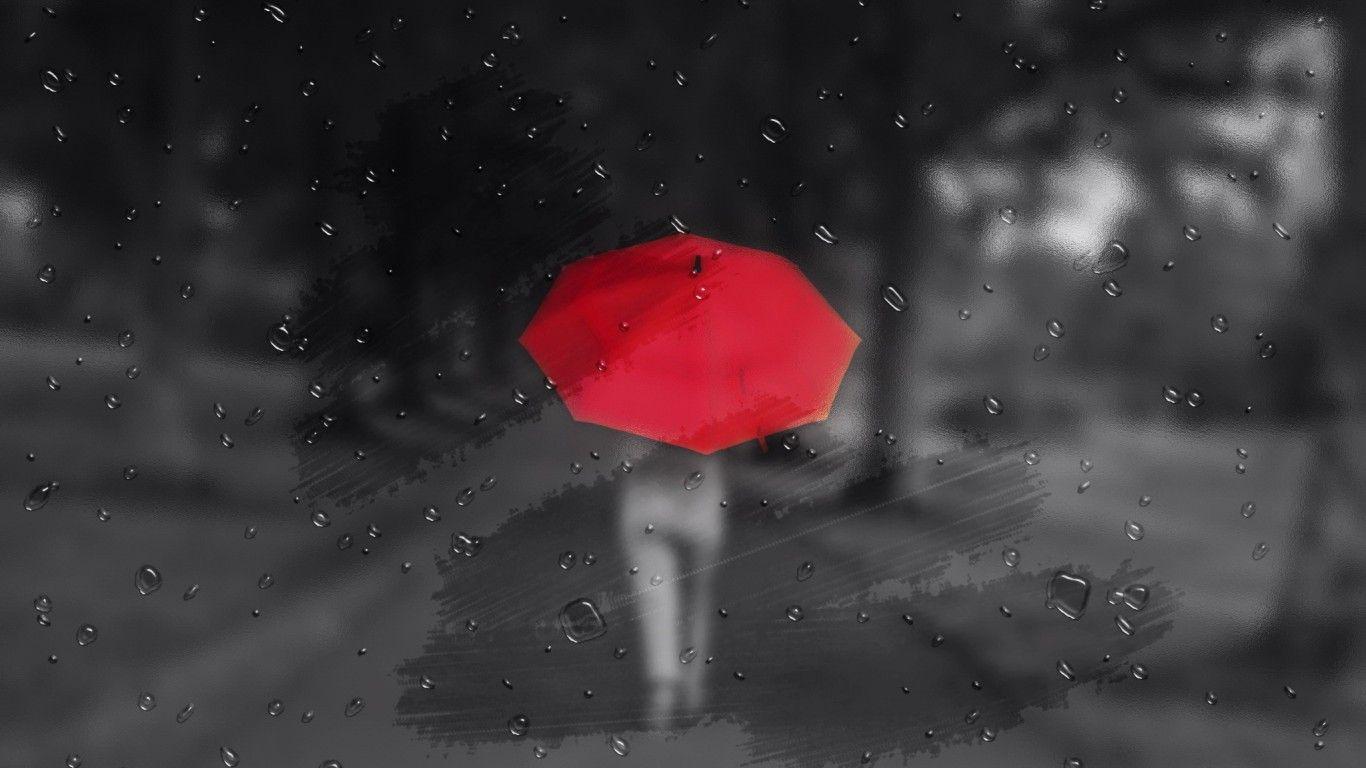 Обои дождь, зонт, капли. Разное foto 16
