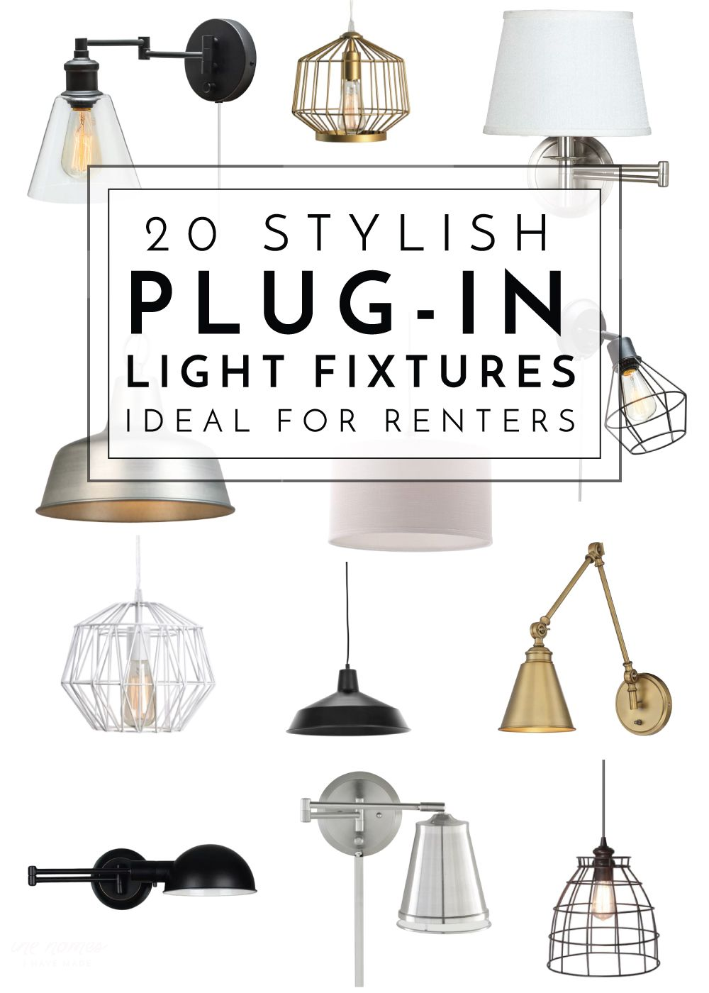 20 Stylish Plug In Light Fixtures Ideal For Renters The Homes I Have Made Dining Room Light Fixtures Diy Light Fixtures Light Fixtures
