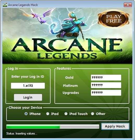 Arcane Legends Hack No Survey Cheat 2016 tool download  With