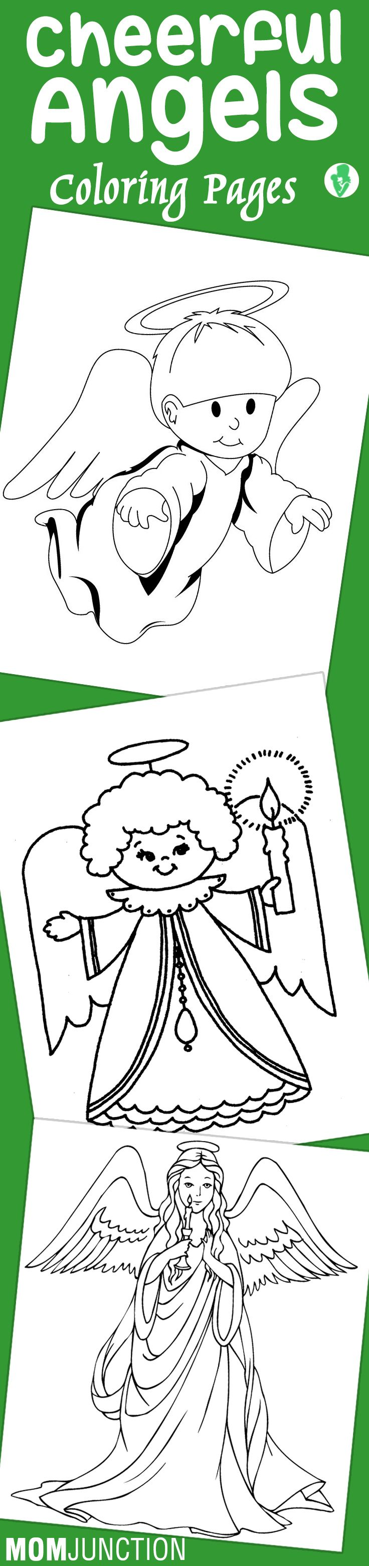 Top 10 Free Printable Cheerful Angel Coloring Pages Online ...
