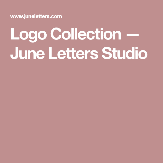 Logo Collection — June Letters Studio