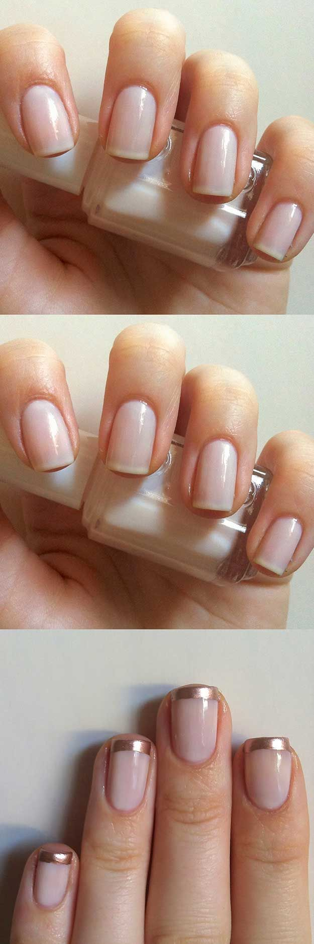 Best French Manicure Tutorials To Do At Home Rose Gold French