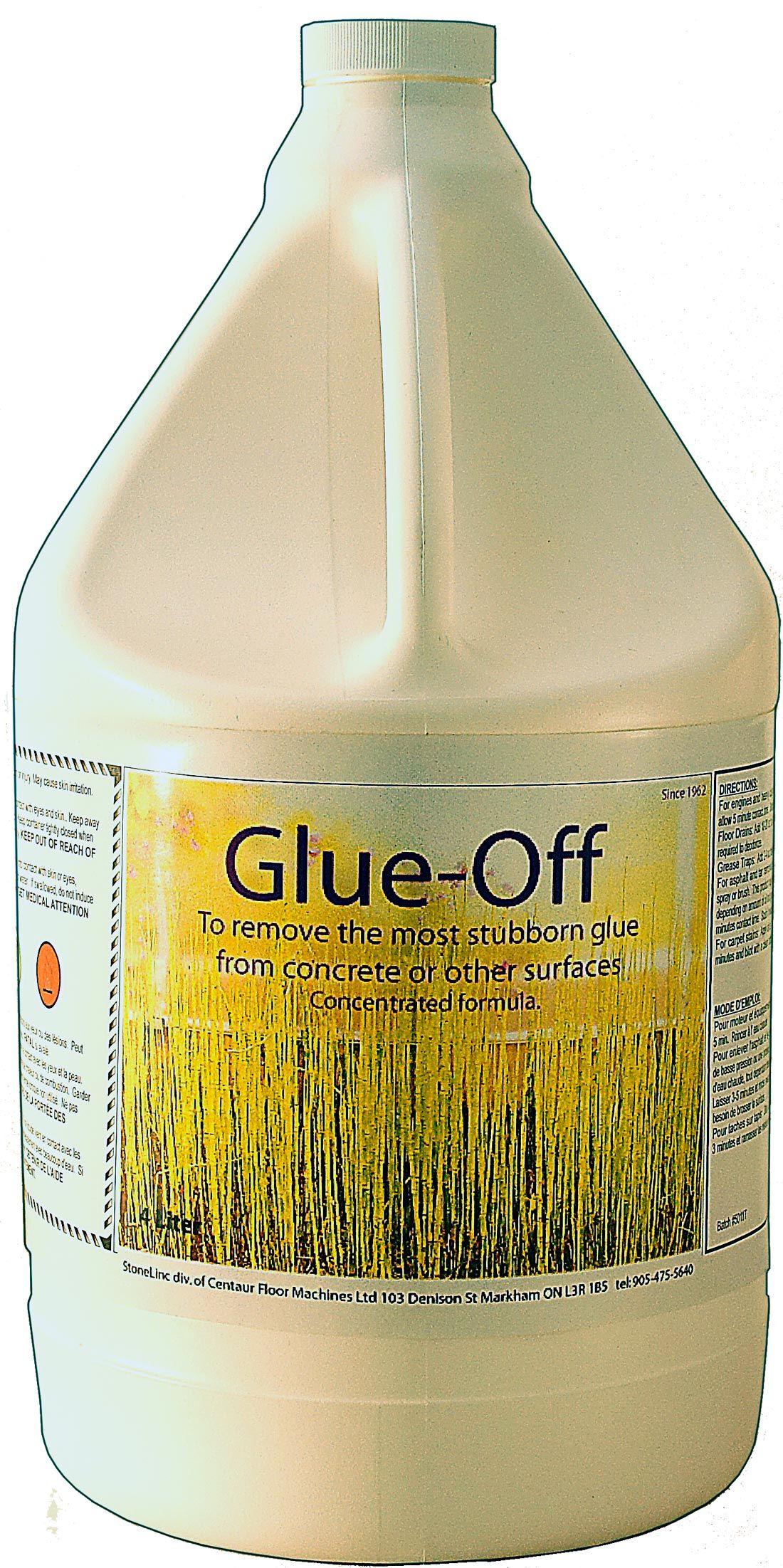 removing old carpet glue from ceramic