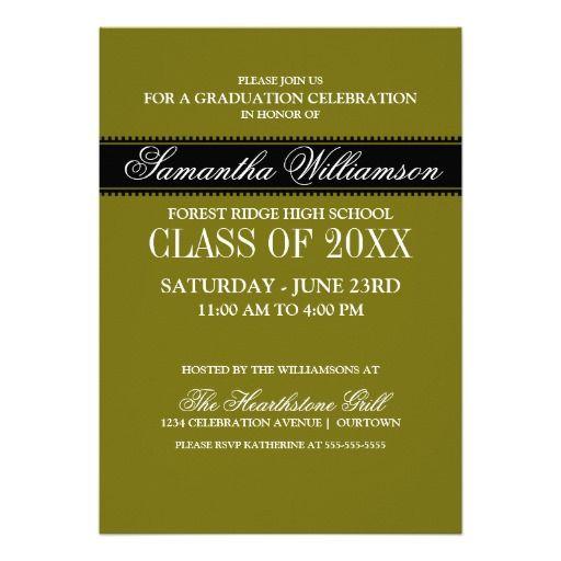 classic formal graduation announcements