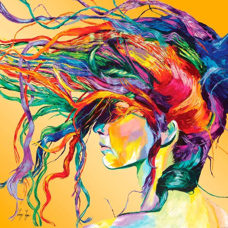"""Saatchi Arte Artista Linzi Lynn;  Grabado #art """"WINDSWEPT- Edición Limitada # 13 de 50"""""""