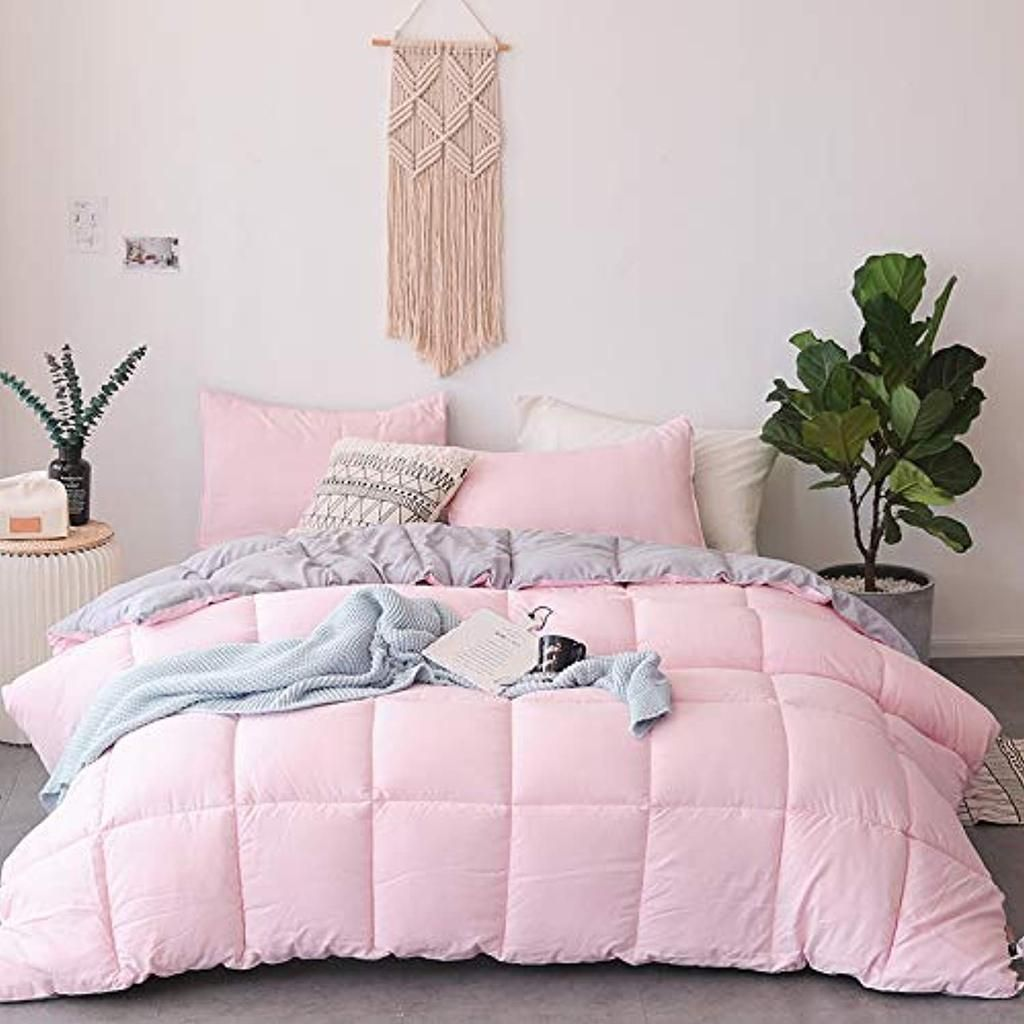 All Season Down Alternative Quilted Comforter Set with ...