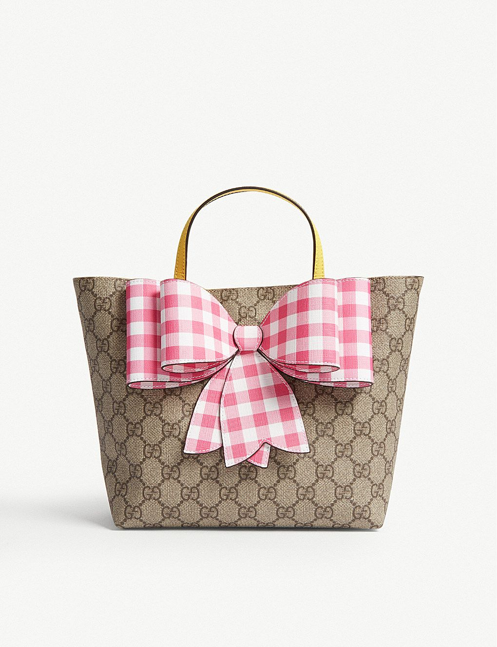 5232cbdac9c7 GUCCI GG Supreme canvas bow tote bag | Bag it. | Bags, Tote Bag ...