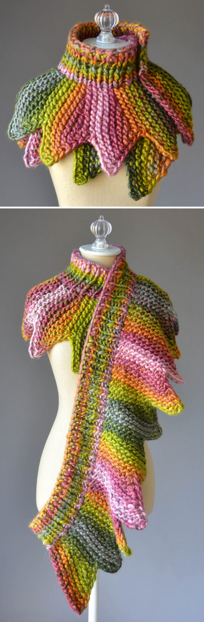 Free Knitting pattern for 18 Petals Scarf - Wrap this ...
