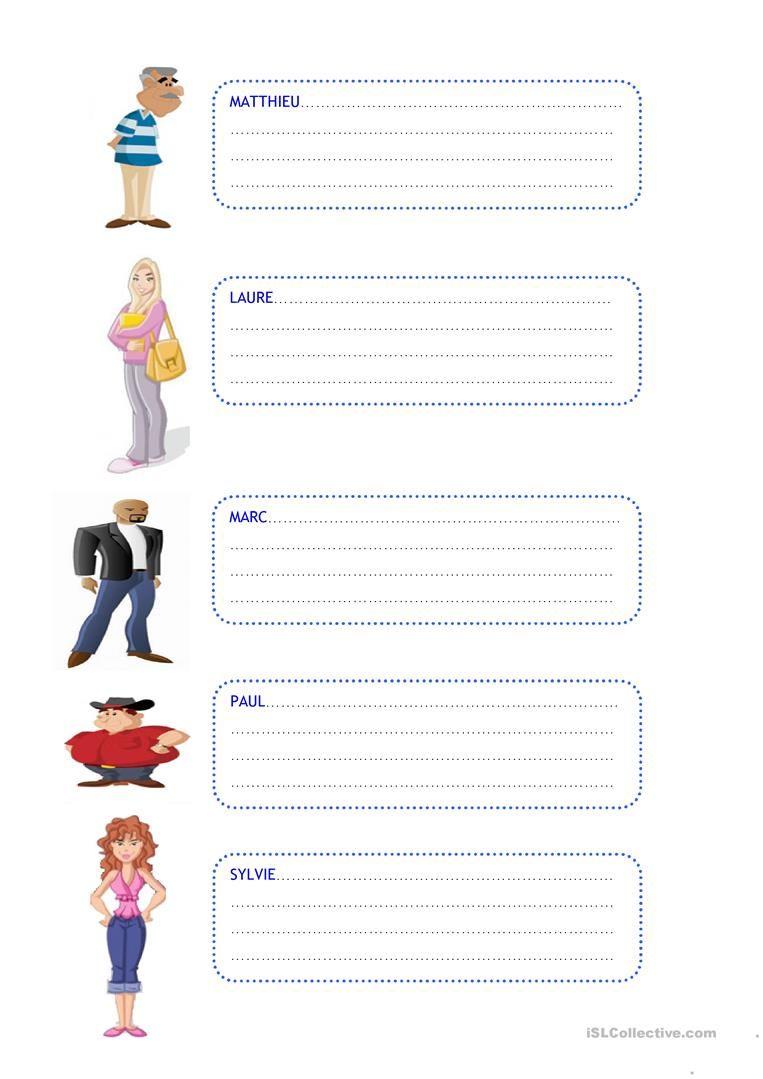 La description physique - Taal, Frans en Onderwijs