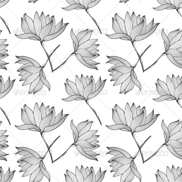 Lotus flowers seamless pattern lotus flowers font logo and fonts lotus flowers seamless pattern mightylinksfo Gallery