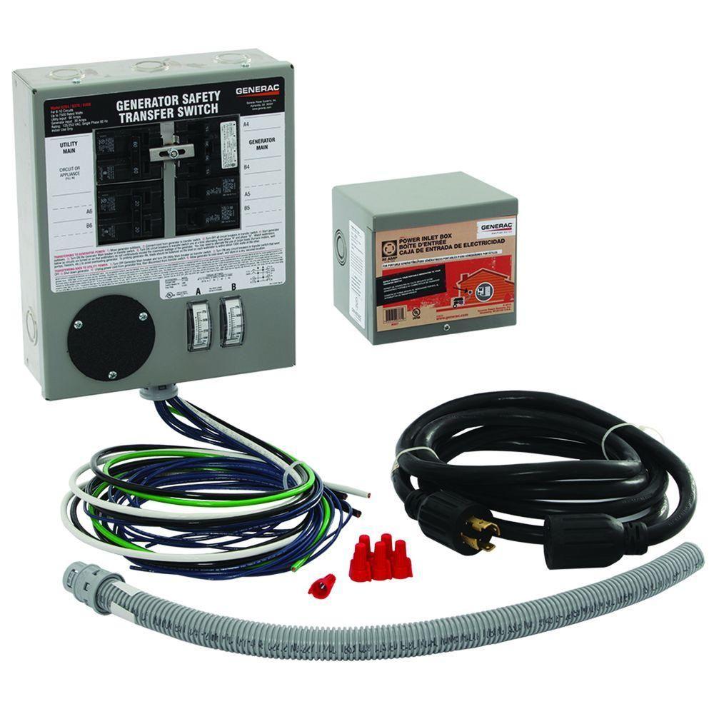 generac 30 amp generator plug wiring diagram generac 30 amp indoor generator transfer switch kit for 6 10  generator transfer switch