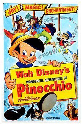 PINOCCHIO ORIGINAL WALT DISNEY CLASSIC ART HOME PHOTO PRINT PREMIUM POSTER
