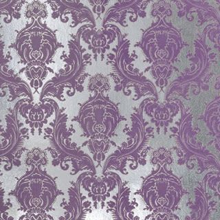 Silver Purple Damask For My Girls Bedroom Damask Wallpaper