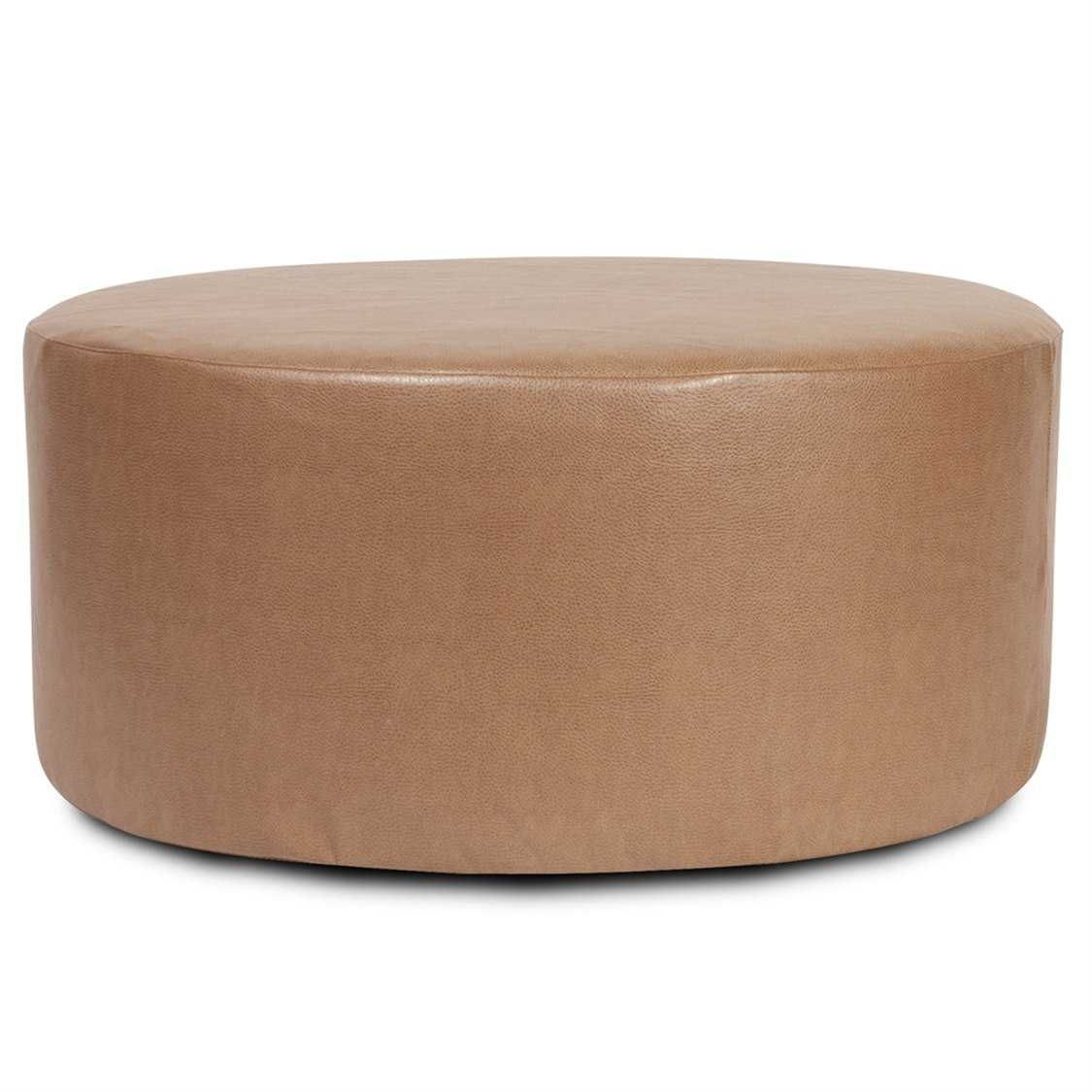 Howard Elliott Universal Round 36 Dia X 18 Brown Ottoman Cover In