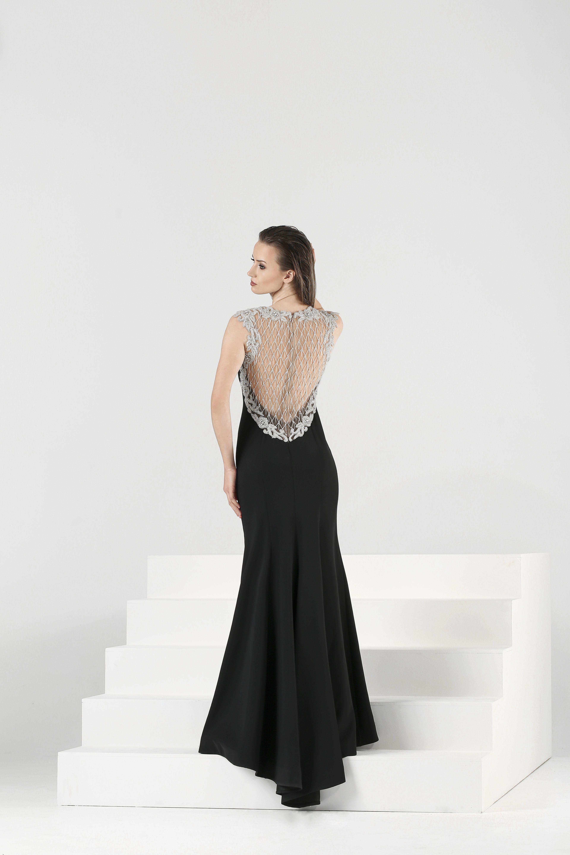 1177d25c7b629 Ankyra, black evening dresses, back detailed black evening gowns, 2018  abiye modelleri,