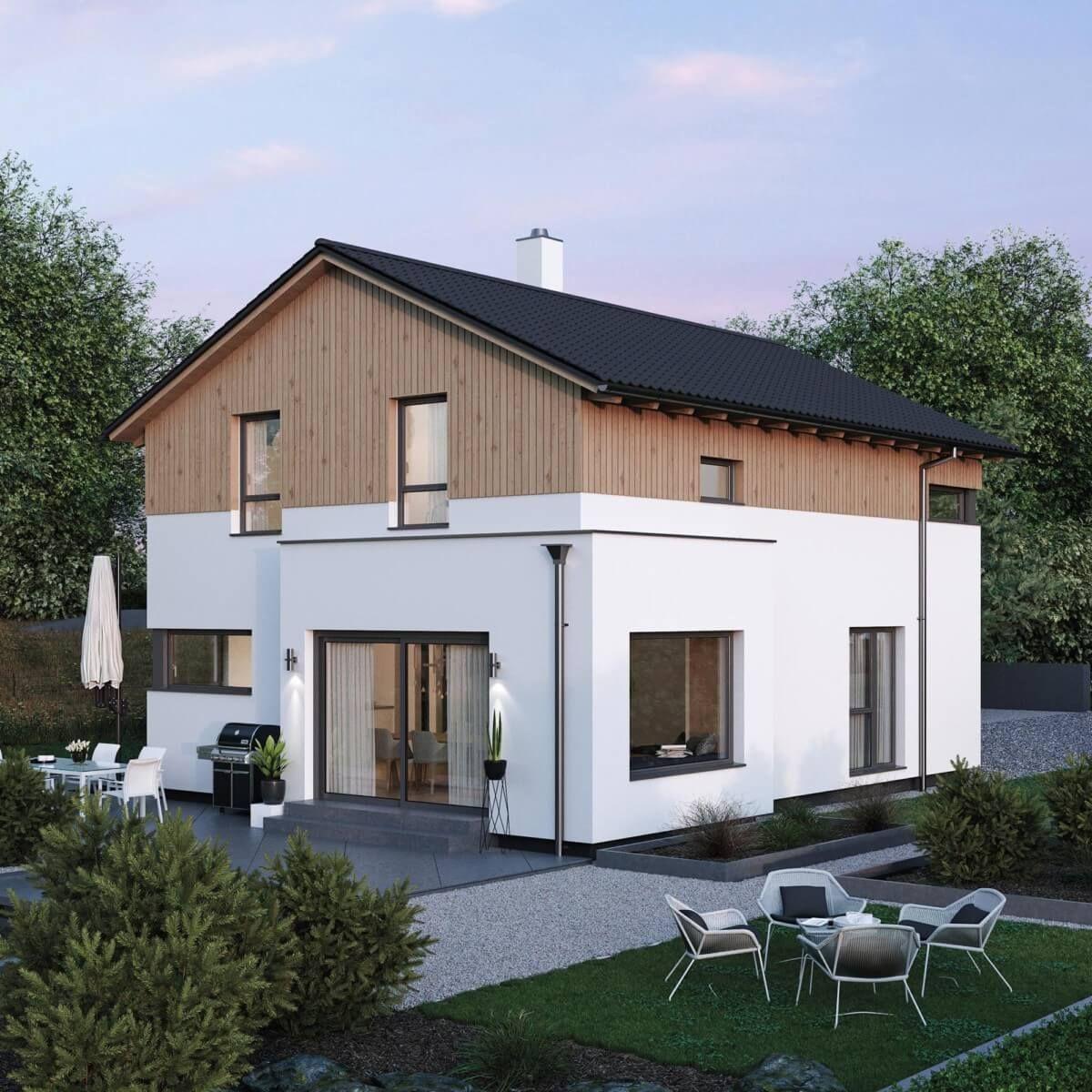 ELK Haus 140 im modernen Alpenstil - ELK Fertighaus ➤ Fertighaus ...