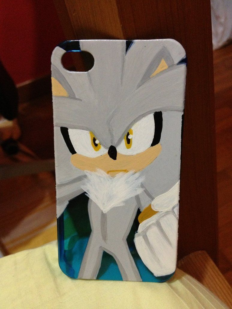 sonic silver the hedgehog iphone case
