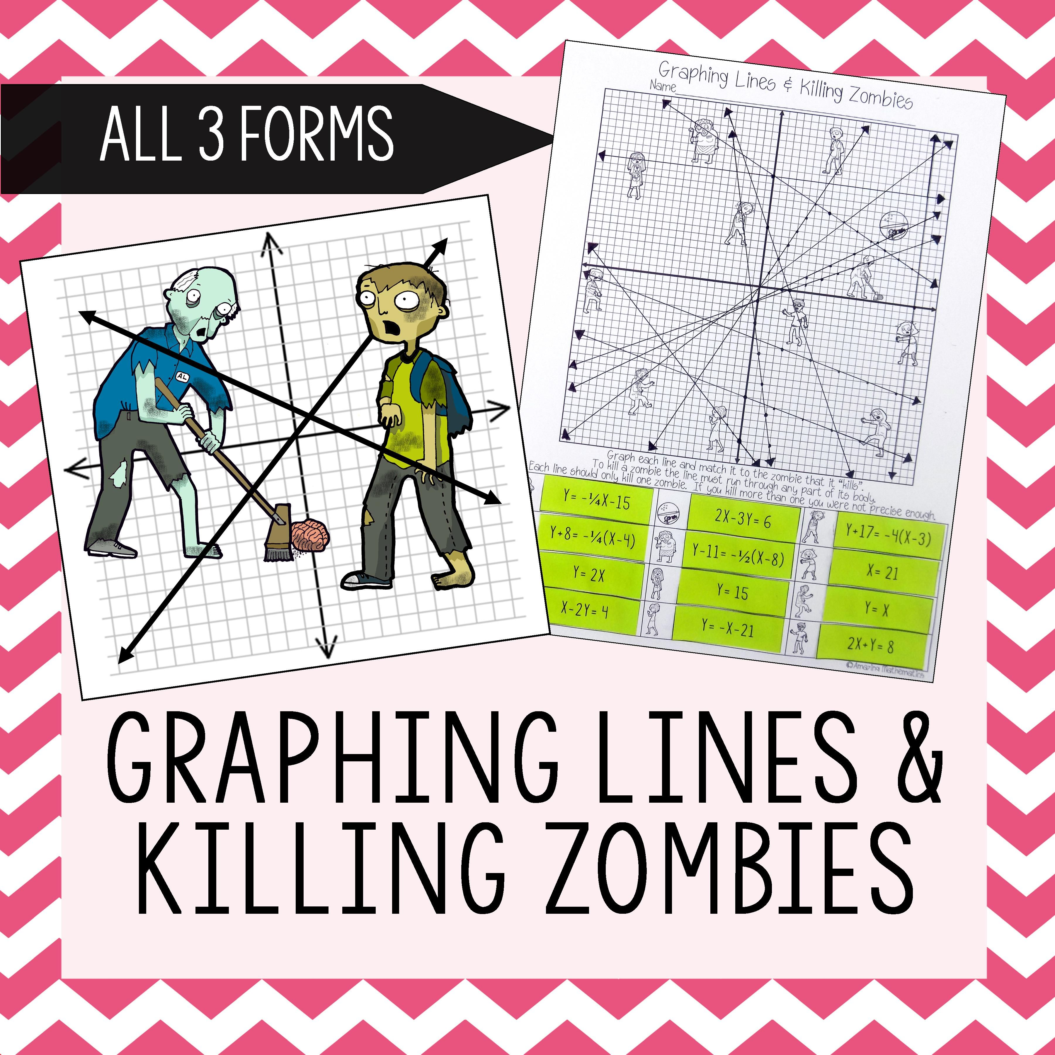 Graphing Lines Zombies Graphing In All 3 Forms Of Linear Equations Activity Graphing Activities Linear Equations Activity Graphing Linear Equations [ 3600 x 3600 Pixel ]