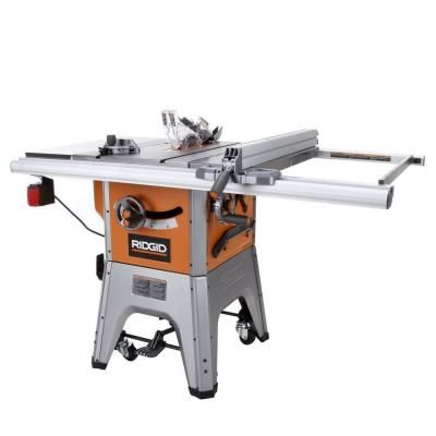 Ridgid 13 Amp 10 In Professional Cast Iron Table Saw R4512 The Home Depot Iron Table Table Saw Contractor Table Saw