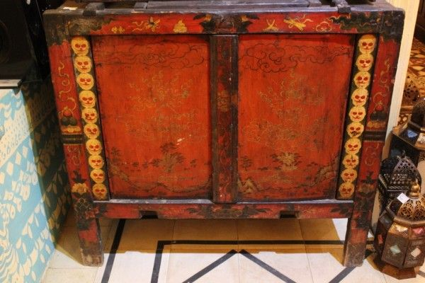 Tantra Cabinet   Antique Wooden Cabinet   Tibetan Wooden Cabinet From Tibet    Green Tara. Tantra Cabinet   Antique Wooden Cabinet   Tibetan Wooden Cabinet