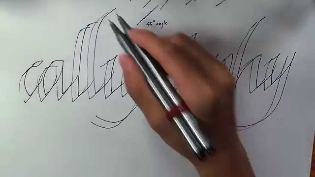 How to write calligraphy with a normal pen how to write