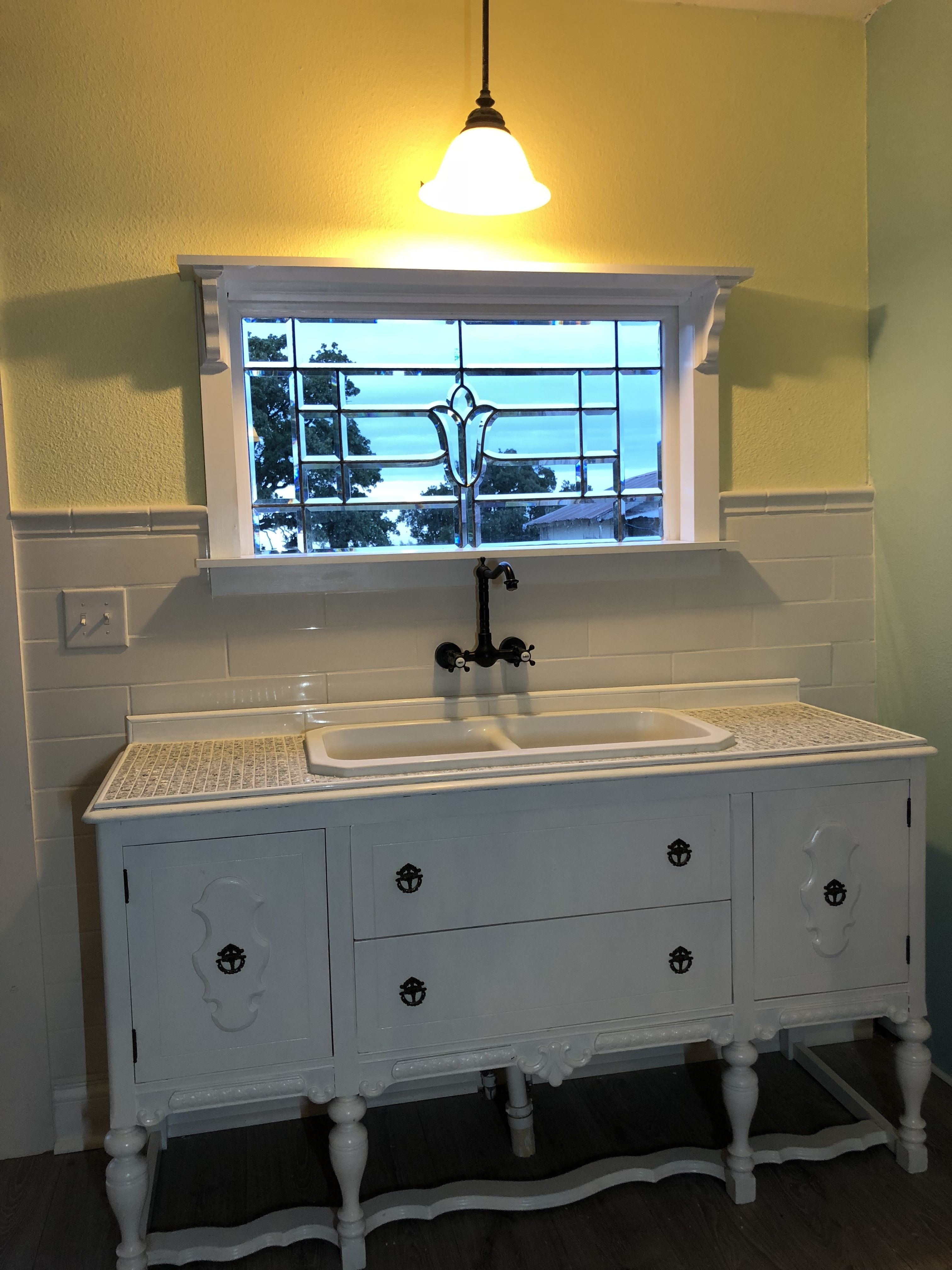 Buffet Turned Into A Kitchen Sink Kitchen Island With Sink New