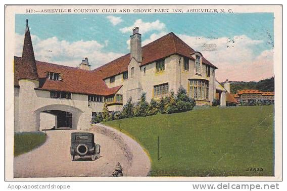 North Carolina Asheville Country Club Grove Park Inn 1928 Grove Park Inn Grove Park Country Clubs