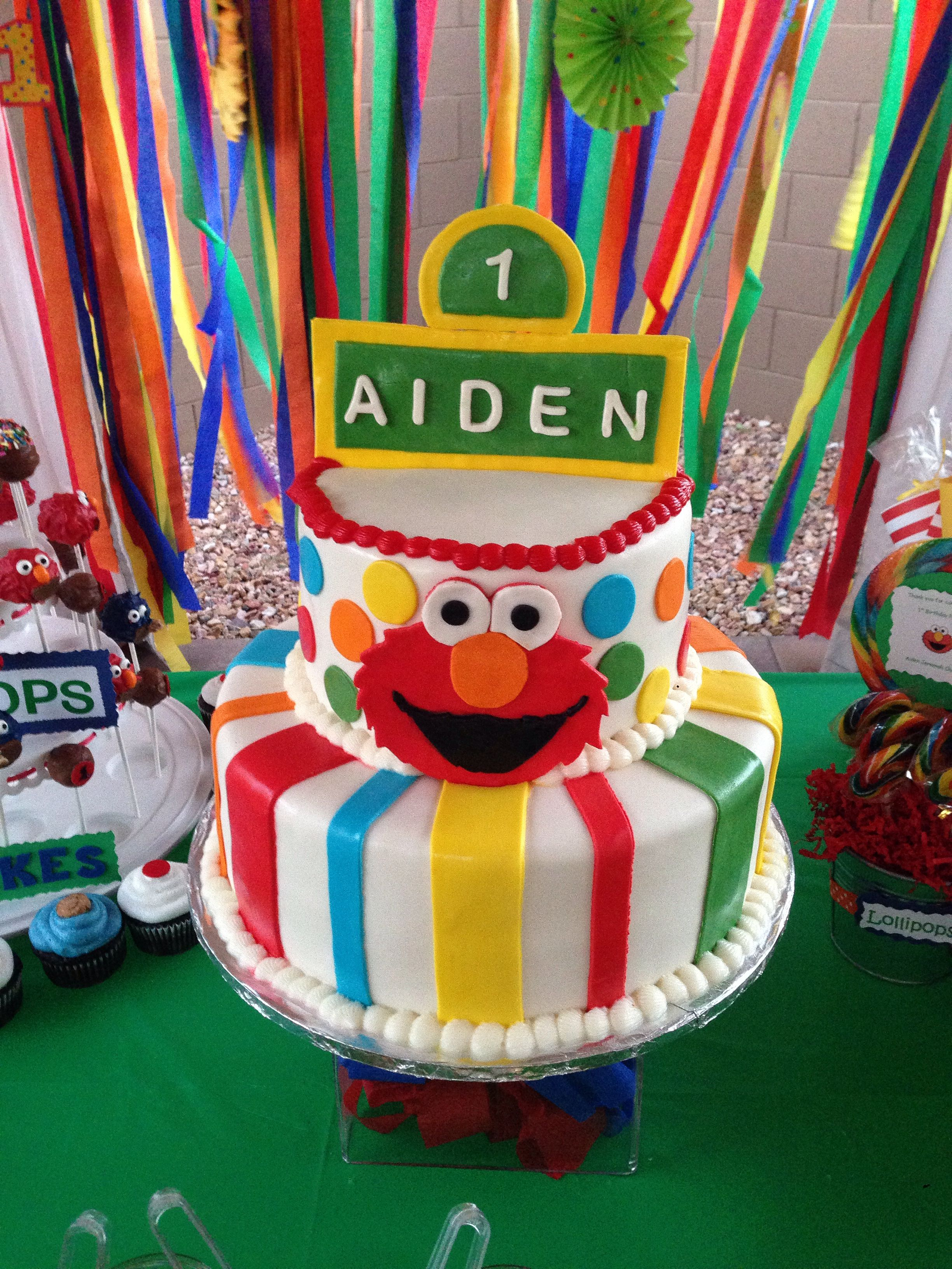 Elmo Birthday Cake 2 Layer Aiden Turns 1